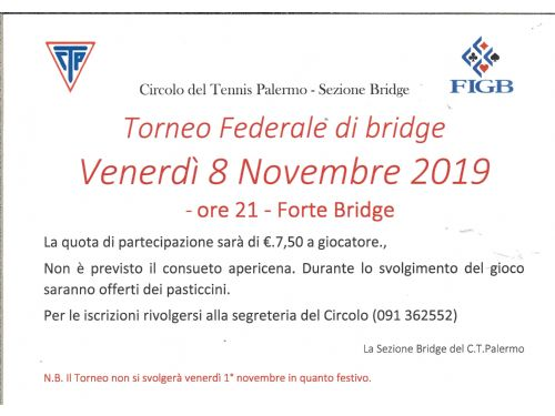 Torneo federale di Bridge